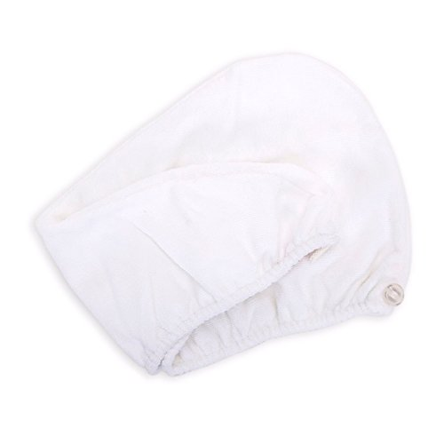 Diva Darling, Easy to Use & Super Absorbent Microfiber Hair Turban, White by AQUIS
