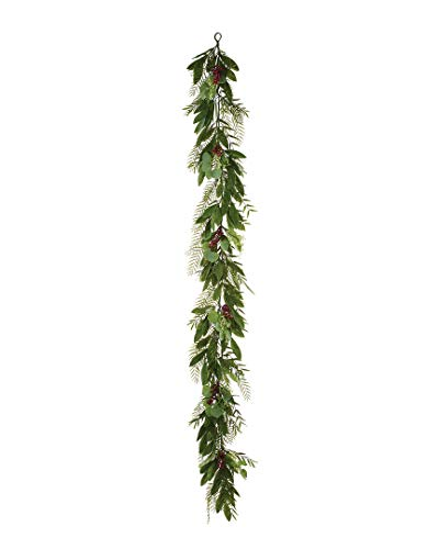 (Napco Pepper Berry Mixed Foliage Garland)