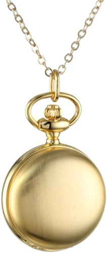 Charles-Hubert, Paris Women's 6765 Gold-Plated Satin Finish Quartz Pendant - Hubert Pendant Charles Watch