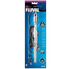 The Fluval M Submersible Aquarium Heater's quality manufacturing utilizes superior components and construction. The Fluval M 50 Watts Electronic Heater is ideal for use in aquariums up to 15 gallons and has a temperature range of 66-86 degree...