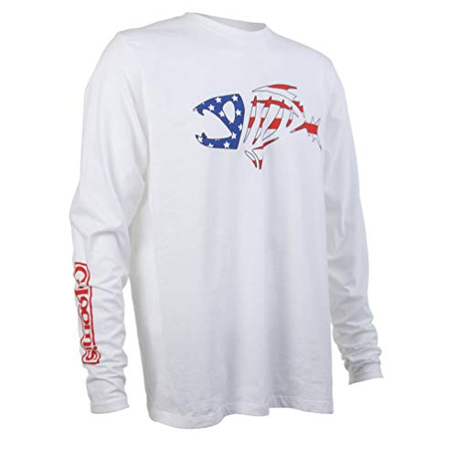 Loomis G USA Logo Long Sleeve Shirt (White, XX-Large)