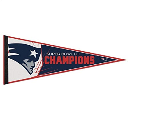 (Wincraft New England Patriots Super Bowl Champions LIII 53 AFC Champions Pennant 12