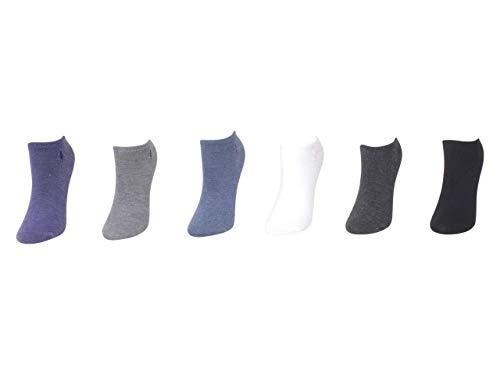 Ralph Lauren Low-Cut Sport Flat Knit Ped Socks 6-Pack, One Size, Purple Assorted