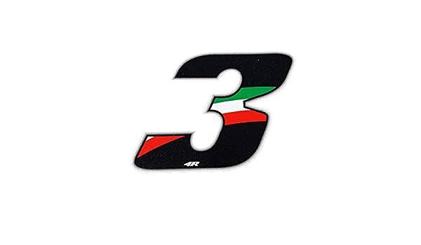 10 X 7,5 cm Quattroerre 13164 Numero Racing Flag 4