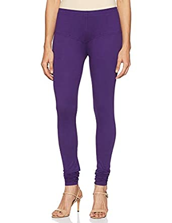 Amazon Brand - Anarva Women's Churidar Leggings Cotton Lycra Fabric, Stretchable and Style