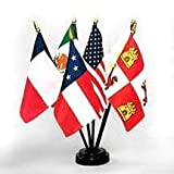 Six Flags Over Texas Miniature Flag Kit (4 in. x 6 in. flag / 10 in. staff) offers