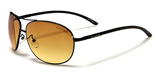 X-Loop HD Vision High Definition Lens Aviator Sunglasses wth Spring Hinge - - Hd Sunglasses Vision
