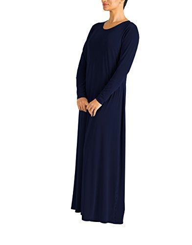 Abaya Modest musulman Plain Femmes Maxi robe Jilbab Hijab Par arabe Marine Islamique Essential Mode Gem Full wIwA8tHq