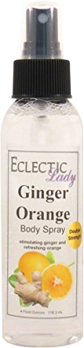 Ginger Orange Body Spray (Double Strength), 4 ounces by Eclectic Lady