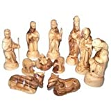 Olive Wood Deluxe Nativity Set (12 Pieces Set)