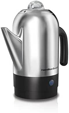 Hamilton Beach 40621R 8 Cup Stainless Steel Percolator, Silver