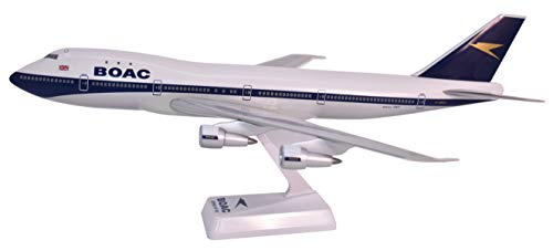 BOAC (66-72) Boeing 747-100 Airplane Miniature Model Plastic Snap Fit 1:200 Part# ABO-74710H-005