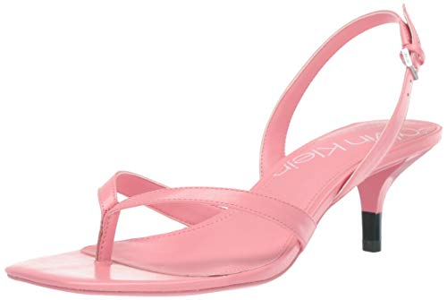 Heel Colored High - Calvin Klein Women's Monty Heeled Sandal Strawberry ice 9.5 M M US