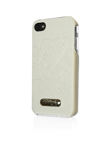 Executive Ed Hardy Faceplate for iPhone 4 - Love Kills Slowly - White - Ed Hardy One Piece