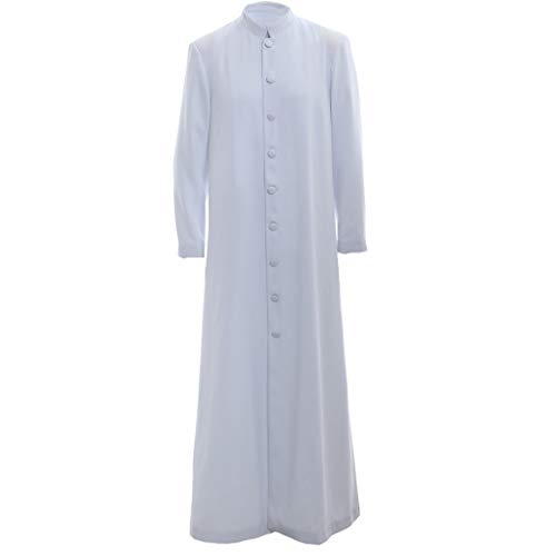 Roman Altar Server Cassock Robe Clergy Pulpit Liturgical Vestments White