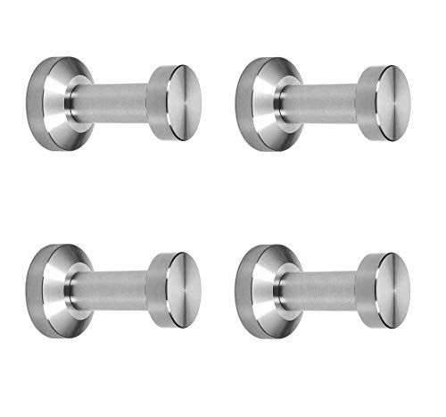 viborg (4 pieces Deluxe Solid Sus-304 Stainless Steel Bathroom Bath Single Towel Robe Hook Holder Kitchen Towel Hanger Hooks XS-894-4