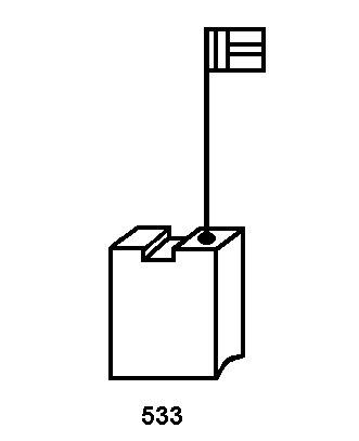 Balais de Charbon METABO W 2030 Mini Meuleuse Angulaire 6x16x20 mm Avec arr/êt automatique Une paire de brosses de charbon de haute qualit/é