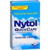 Nytol QuickCaps Night Time Sleeping Aid, 16 Caps (Pack of...