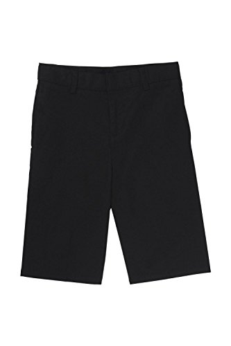 French Toast Big Boys' Basic Flat Front Short with Adjustable Waist, Black, 10 by French Toast
