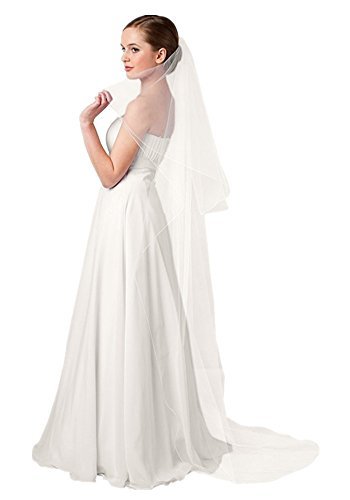 Shop Ginger Wedding 2T Oval Bridal Veil Long Satin Edge