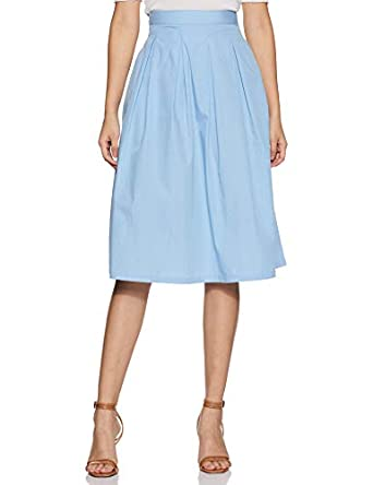 Amazon Brand - Eden & Ivy Cotton Pleated Skirt