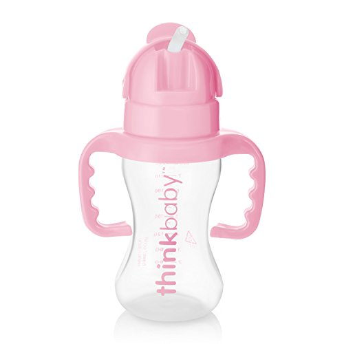 thinkbaby Thinkster Straw Bottle, Pink