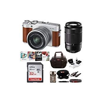 Fujifilm X-A5 Mirrorless Digital Camera with 15-45mm Lens (Brown) & XC 50-230mm f/4.5-6.7 OIS II Lens Kit