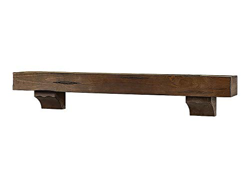 Breckenridge 72 Fireplace Mantel Shelf - Grey Rustic Finish