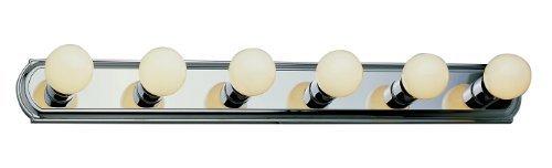 Trans Glob Lighting 3236 ROB 6-Light Basic Strip Bathroom Bar Light, Rubbed Oil Bronze by Trans Glob Lighting