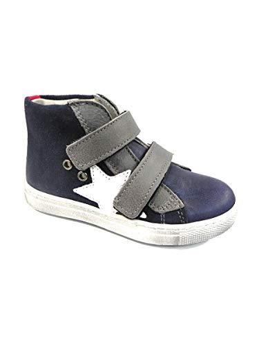 Sneakers Shoes Blu Velcro Euro Bimbi Con Alta w5EE0x