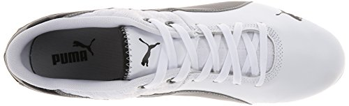 Puma Mannen Drift Cat 6 Motorsport Fashion Sneaker Wit / Zwart / Kalksteen Grijs