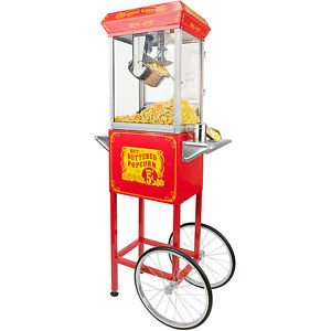 FunTime Full-size High Quality Carnival Style 8-oz Hot Oil Popcorn Machine with Red/ Silver C by Funtime