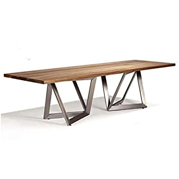 Mathi Design Table Repas Origami Bois Pieds En Inox Amazonfr