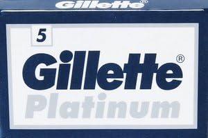 5 cuchillas de afeitar Gillẹtte Platinum (1 paquete)