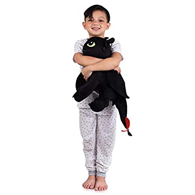 Franco Kids Bedding Super Soft Plush Cuddle Pillow Buddy, One Size, How to Train Your Dragon Toothless: Home & Kitchen