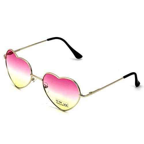 las Gafas 1X manera VANKER de mujer gran de grande de gafas lindo Rosa sol tamaño para forma Gafas corazón en de pUxdUTqw8