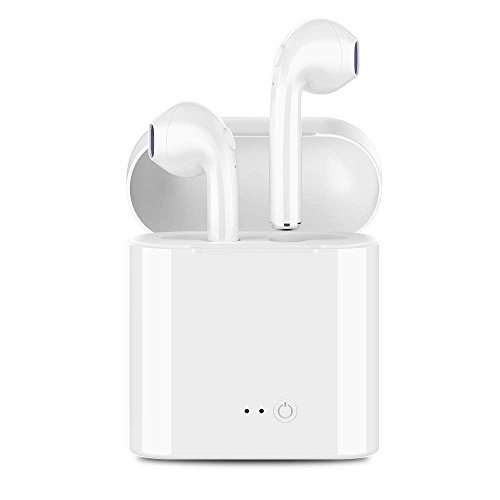 Bluetooth Headphones, Wireless Earbuds Stereo hands-free calling Earphones Sport Driving Headsets with Charging Case for iPhone 8/8 plus/X/7/7 plus/6s/6S for Samsung Galaxy S9, S9 Plus for Android by Aukeer