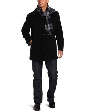 London Fog Men's Barrington Car Coat, Black, Small