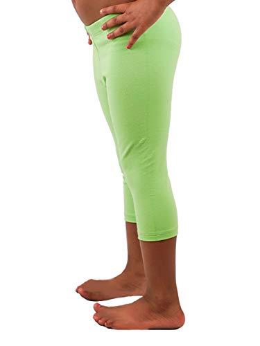 Vivian's Fashions Capri Leggings - Girls, Cotton (Lime, -