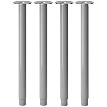 Ikea Olov Adjustable Table Leg Set Of 4 Steel Silver