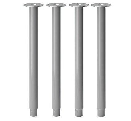 IKEA OLOV Adjustable Table Leg - SET of 4 - Steel, Silver (X4)