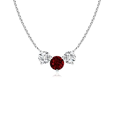 Angara Ruby Pendant Platinum - July Birthstone Necklace 1LhdhGZ