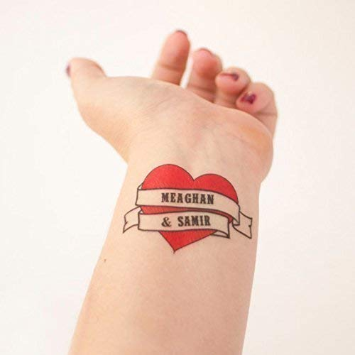 Heart Sailor Tattoo (Personalized Heart Wedding Temporary Tattoos)