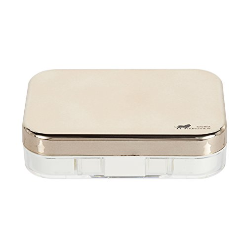 Bissport Cute Contact Lens Case Travel Kit Holder With Mirror (Gold) by Bissport (Image #2)