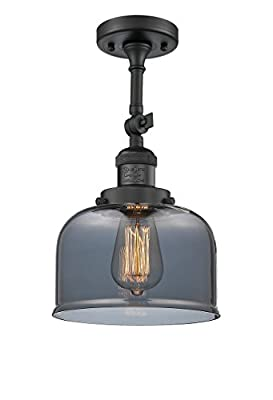Innovations Lighting 1 Light Vintage Dimmable LED Large Bell 8 inch Semi-Flush Mount