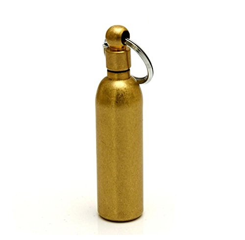 Retro classic Waterproof Fire Starter and Backup Brass Fuel Canister Especially for Survival and Emergency Use by Retro classic