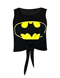 MyMixTrendz - Womens Superman Batman Crop Top Tie Up Vest