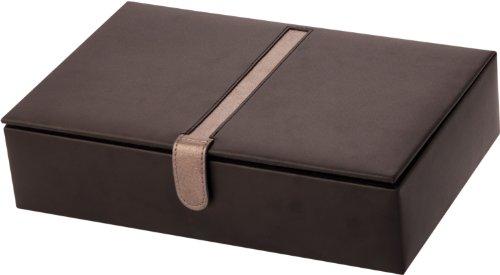 Leathersmith of London Uhrenbox echtes Leder Platz für 10 Uhren -