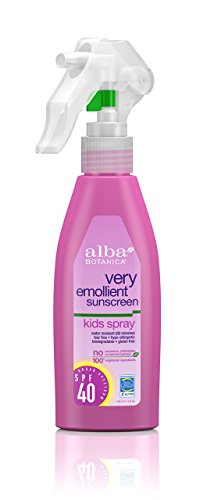 Alba Botanica Very Emollient,  Kids Spray Sunscreen SPF 40, 4 Ounce