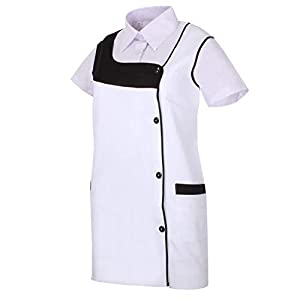 MISEMIYA Uniformes Sanitarios Casaca Camisa Mujer Cierre Cremallera Manga Corta 3